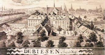 Klooster de Biesen, waar later de papierfabriek zou komen te staan.